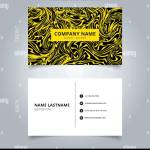 Business Name Card Yellow Marble Texture On Black Background Branding And Identity Graphic Design Vector Illustration Stock Vector Image Art Alamy