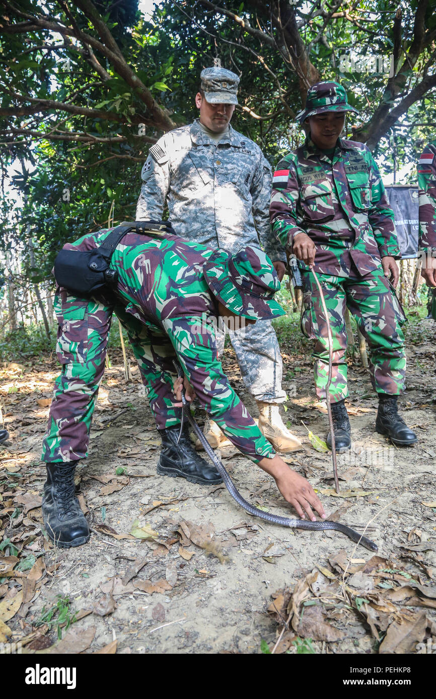 Indonesian Tentara Nasional Indonesia Army Tni A From St Infantry Division Of Kostrad Teach A U S Sol R  Th Infantry Regiment Rd Infantry Brigade