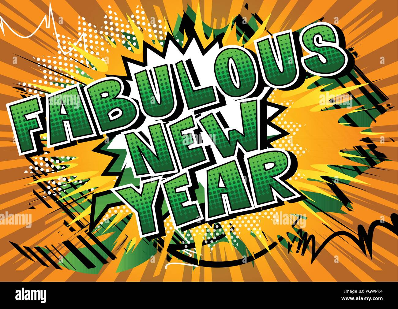 Fabulous New Year   Comic book style word Stock Vector Art     Fabulous New Year   Comic book style word