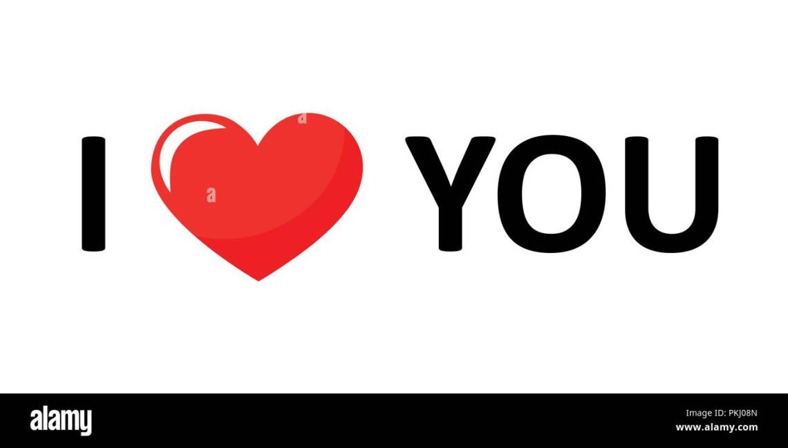 Download I love you lettering black text with red heart vector ...