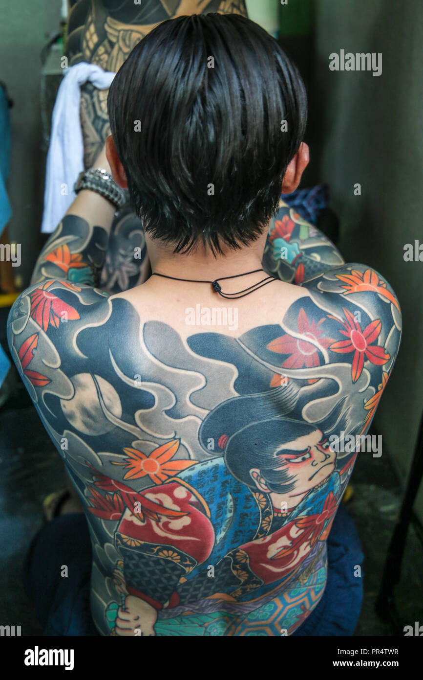 London Uk 29th Sep 2018 Japanese Tattoos Diau Zuo Tattoo By Wei
