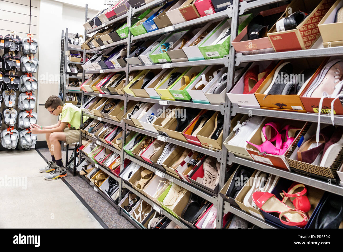 https www alamy com florida miami kendall the palms at town country mall nordstrom rack inside interior shopping shopper shoppers shop shops market markets market image220795594 html