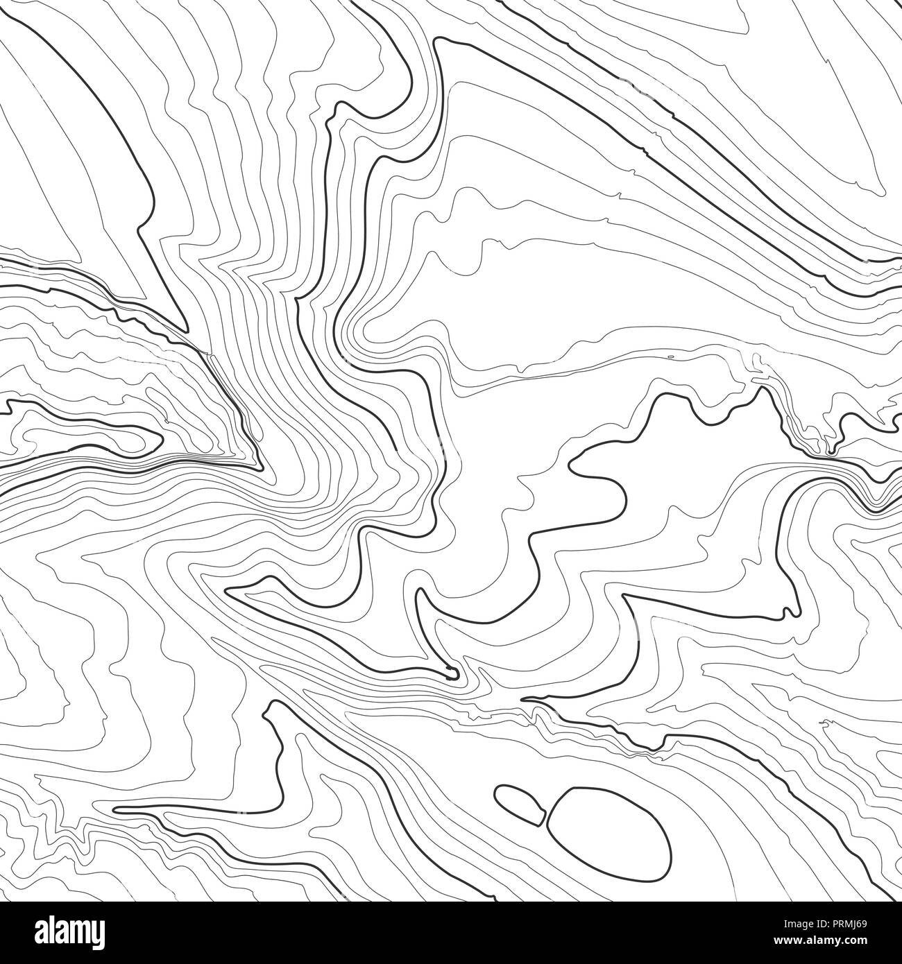 Drawing Contour Lines Topographic Map Worksheet