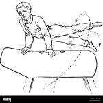 Gymnastics Exercises Horse Jumping Behind Jumps Scissors When Swinging Back 1890 Stock Photo Alamy