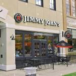 Jimmy John S Fast Food Sandwich Shop Or Restaurant Front Exterior Entrance With Small Patio In Downtown Montgomery Alabama Usa Stock Photo Alamy