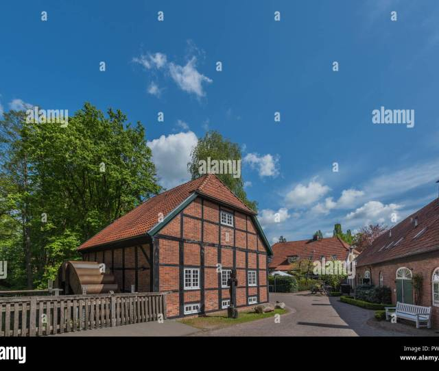 View Of The Monastery Hude Oldenburg Germany Copy Space For Text