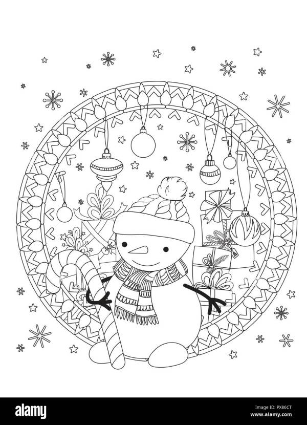 adult christmas coloring pages # 52