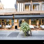 Old Building Facade With Beautiful Restaurant In Honfleur Famuos French Town In Normandy Stock Photo Alamy