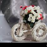 Moscow Russia 06 10 2018 Wicker Stand For Flowers In The