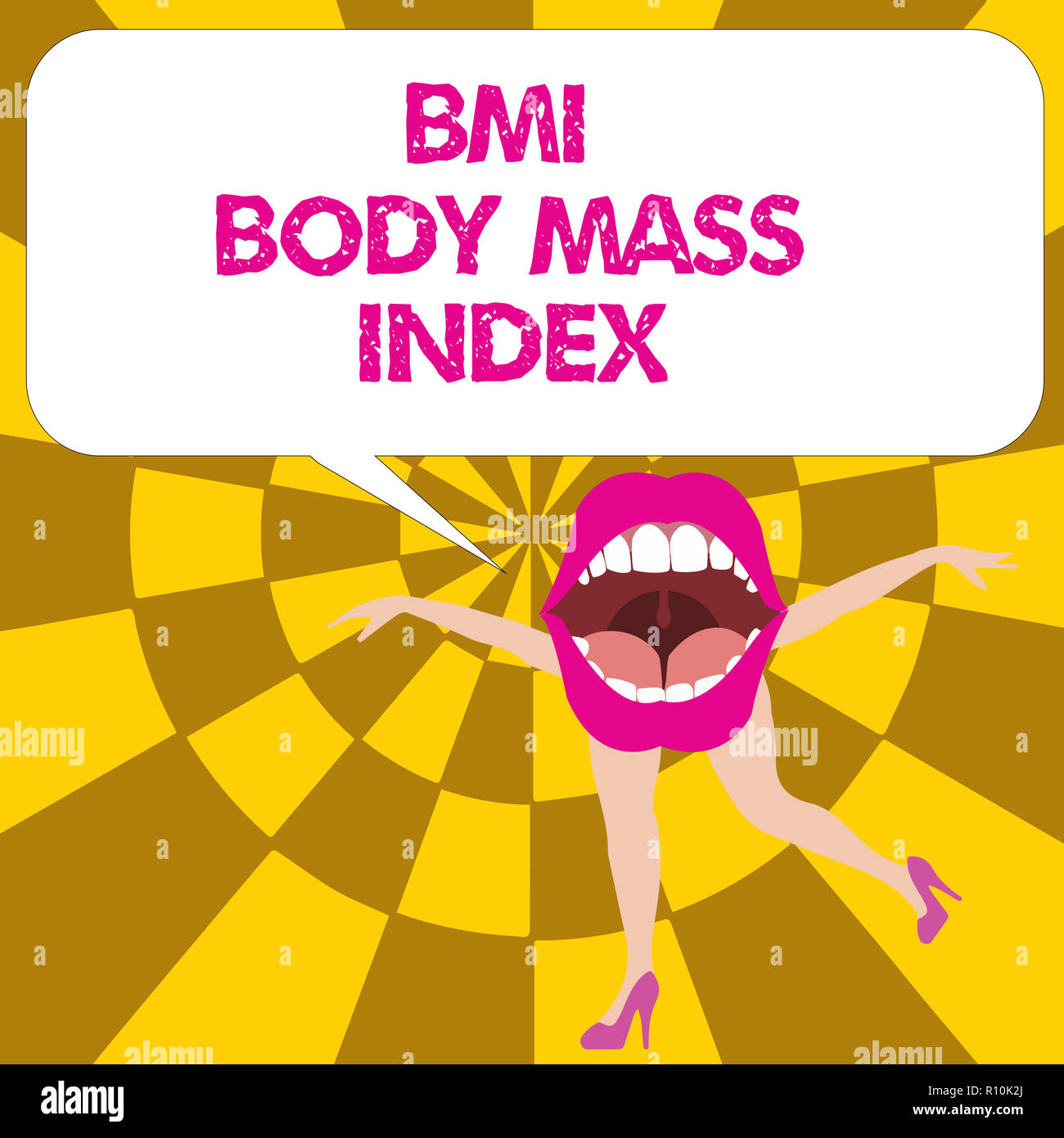 Conceptual Hand Writing Showing Bmi Body Mass Index