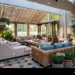 Conservatory Dining Room With Sofas Stock Photo Alamy