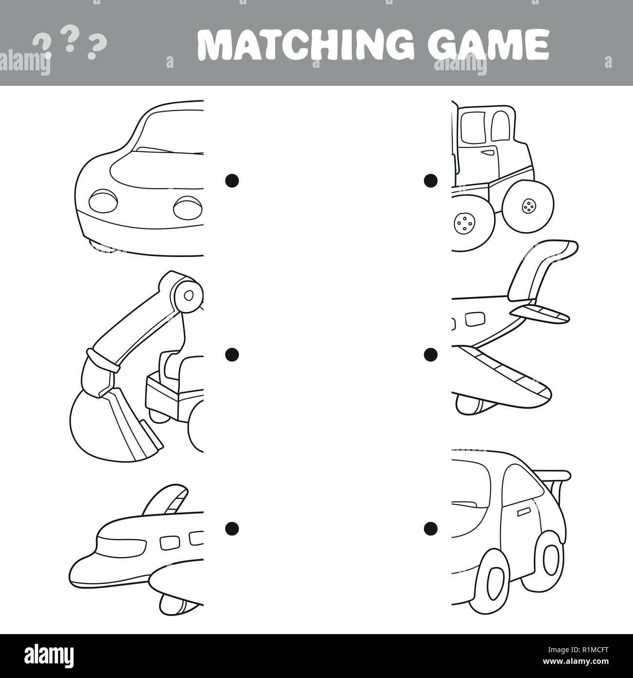Cartoon Illustration Education Element Matching Stock