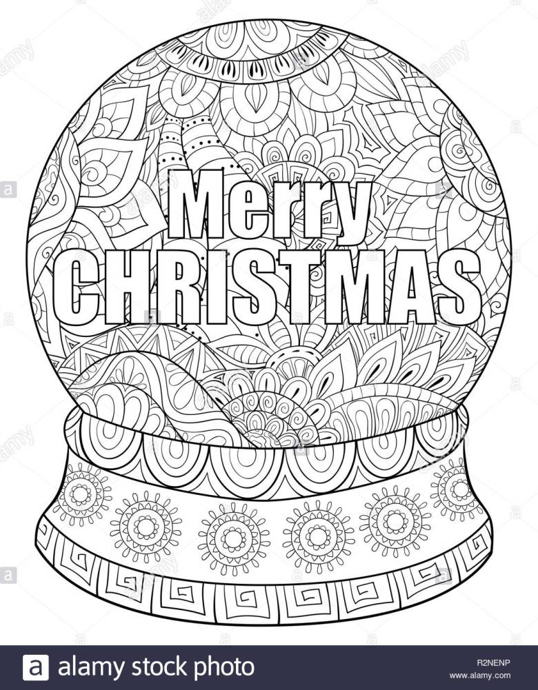 adult coloring page for christmas holiday for rleaxing.zen art style