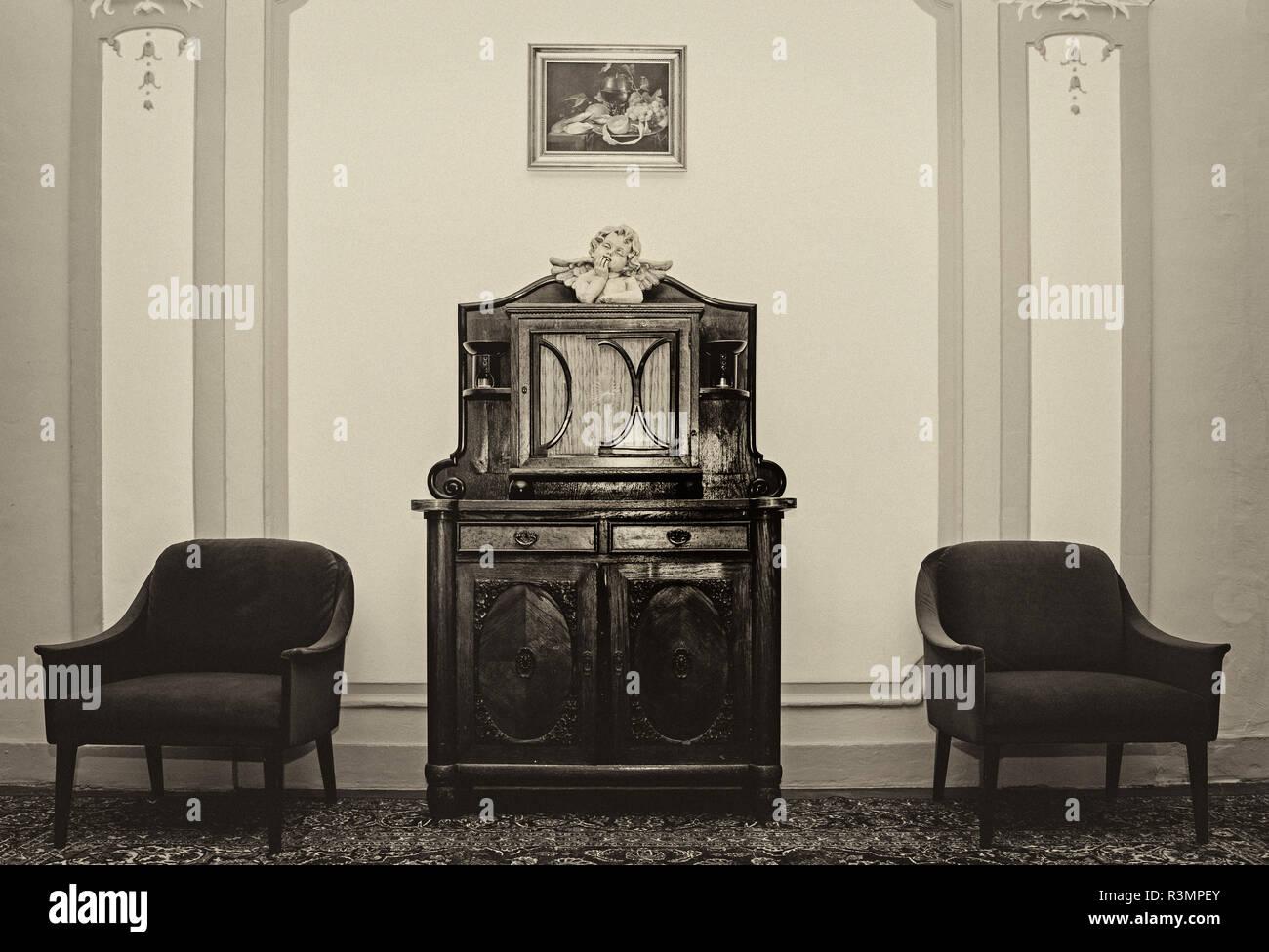 wartezimmer stock image