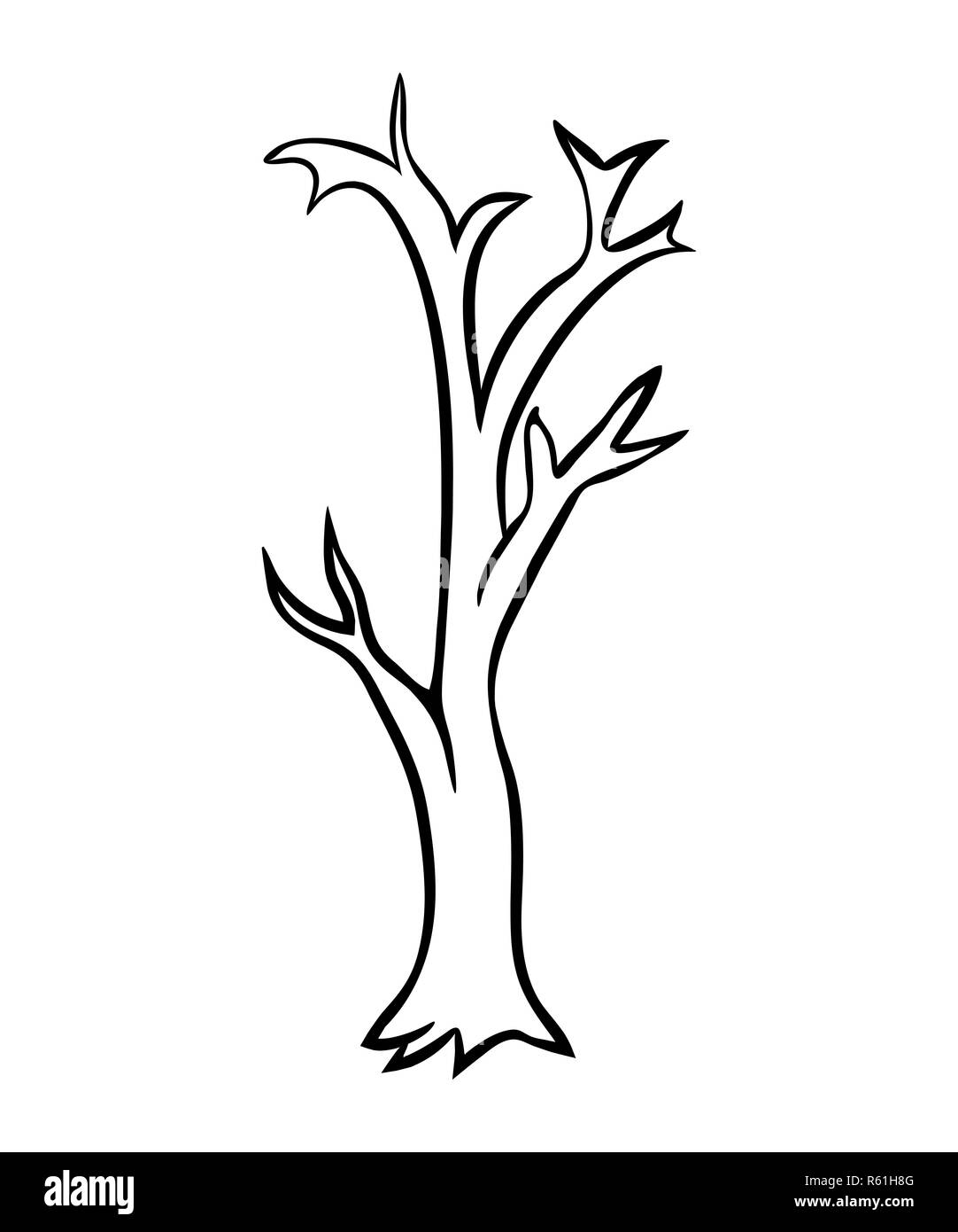Bare Tree Clipart High Resolution Stock Photography And Images Alamy
