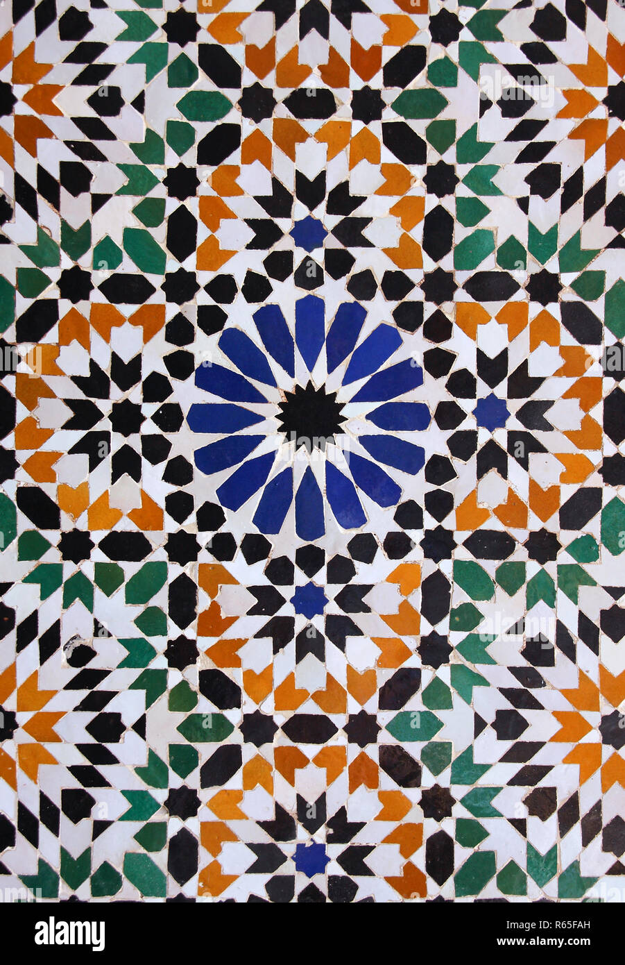 https www alamy com morocco marrakesh typical old colorful arabesque mauresque glazed ceramic wall tiles image227544537 html
