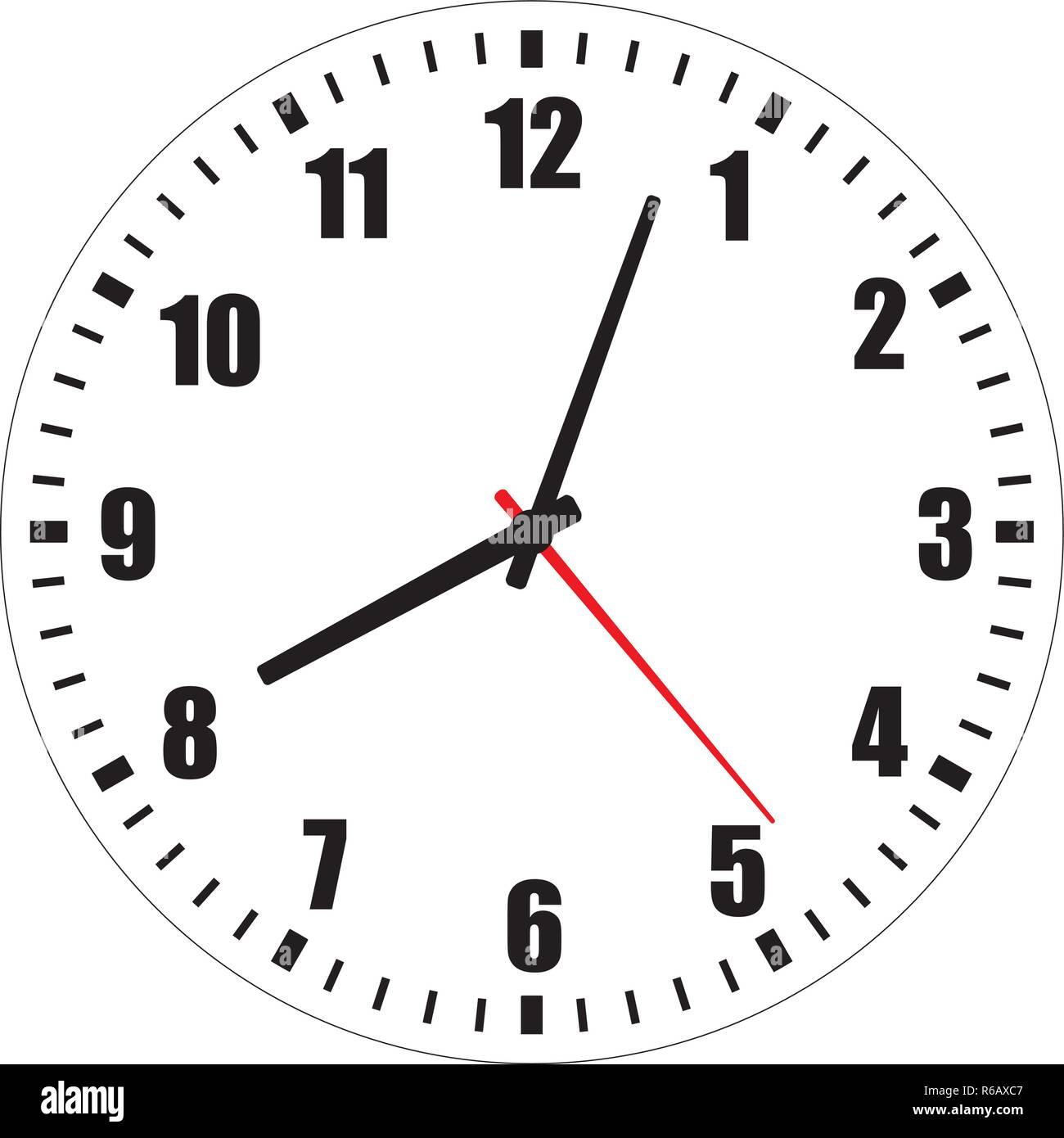 Vector Illustration Of Blank Clock Face Dial With Arabic