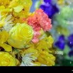 Beautiful Bouquet Flowers With Different Types Of Yellow Flowers Stock Photo Alamy