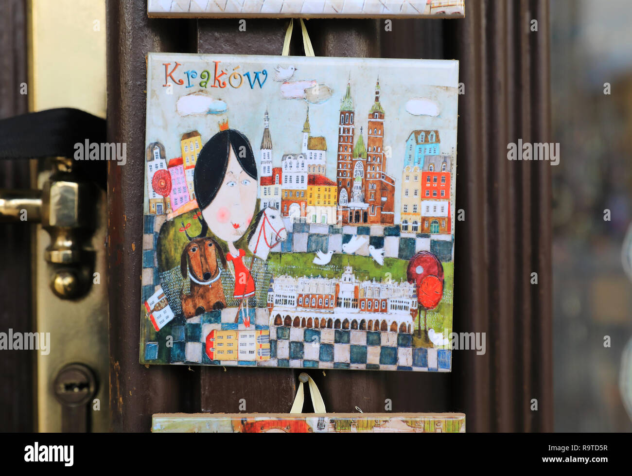 https www alamy com pretty local ceramic tiles for sale on stalls on the christmas market in the main market square in the old town in krakow poland image229803891 html