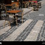 Summer Terrace Of Luxury Restaurant With Armchairs And Tables On Pavement Outdoor Street Wide Image Stock Photo Alamy