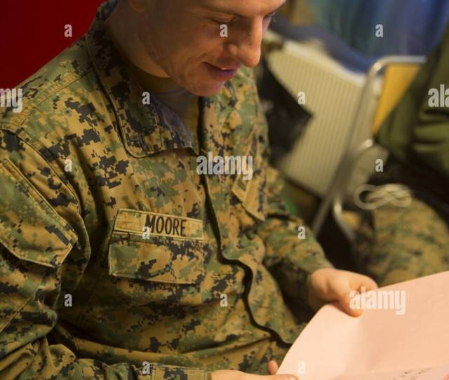 U S Marine Cpl Mason Moore With Marine Rotational Force Europe Mrf E
