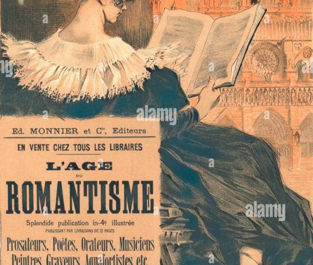 Poster For Librairie Romantique Promoting The Book Lage Du