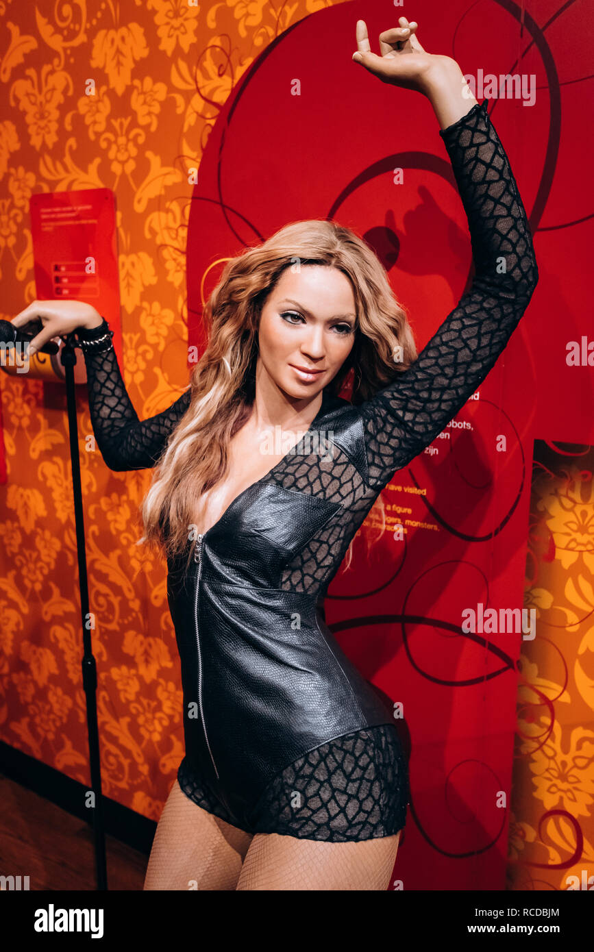 https www alamy com amsterdam netherlands september 5 2017 beyonce knowles wax figure in madame tussauds museum image231405180 html
