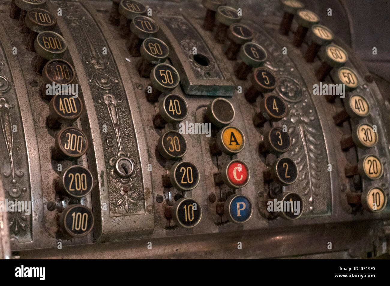 To select another open register, from the main menu click sales > switch registers and select the register. Old Cash Register Vintage Close Up Detail Antique Stock Photo Alamy
