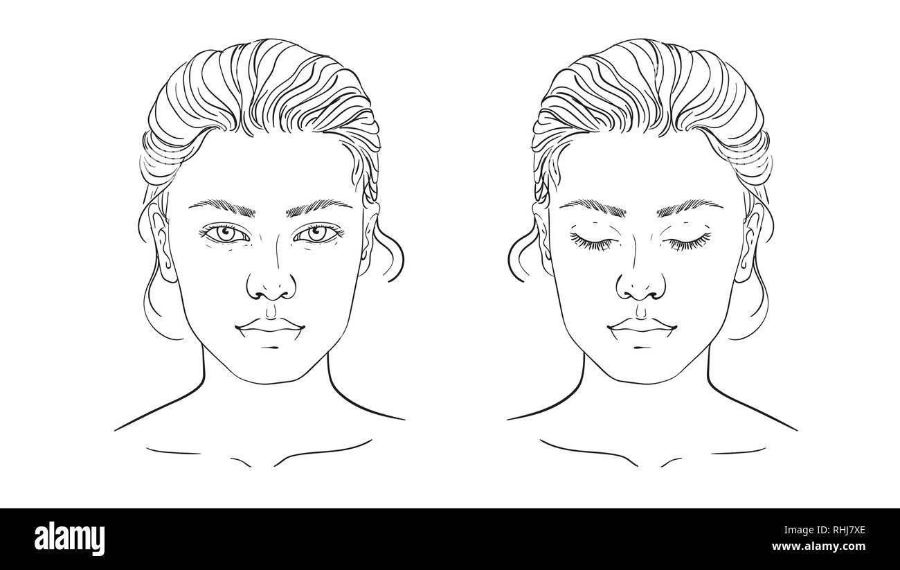 Chart Makeup Artist Blank Template Vector Illustration