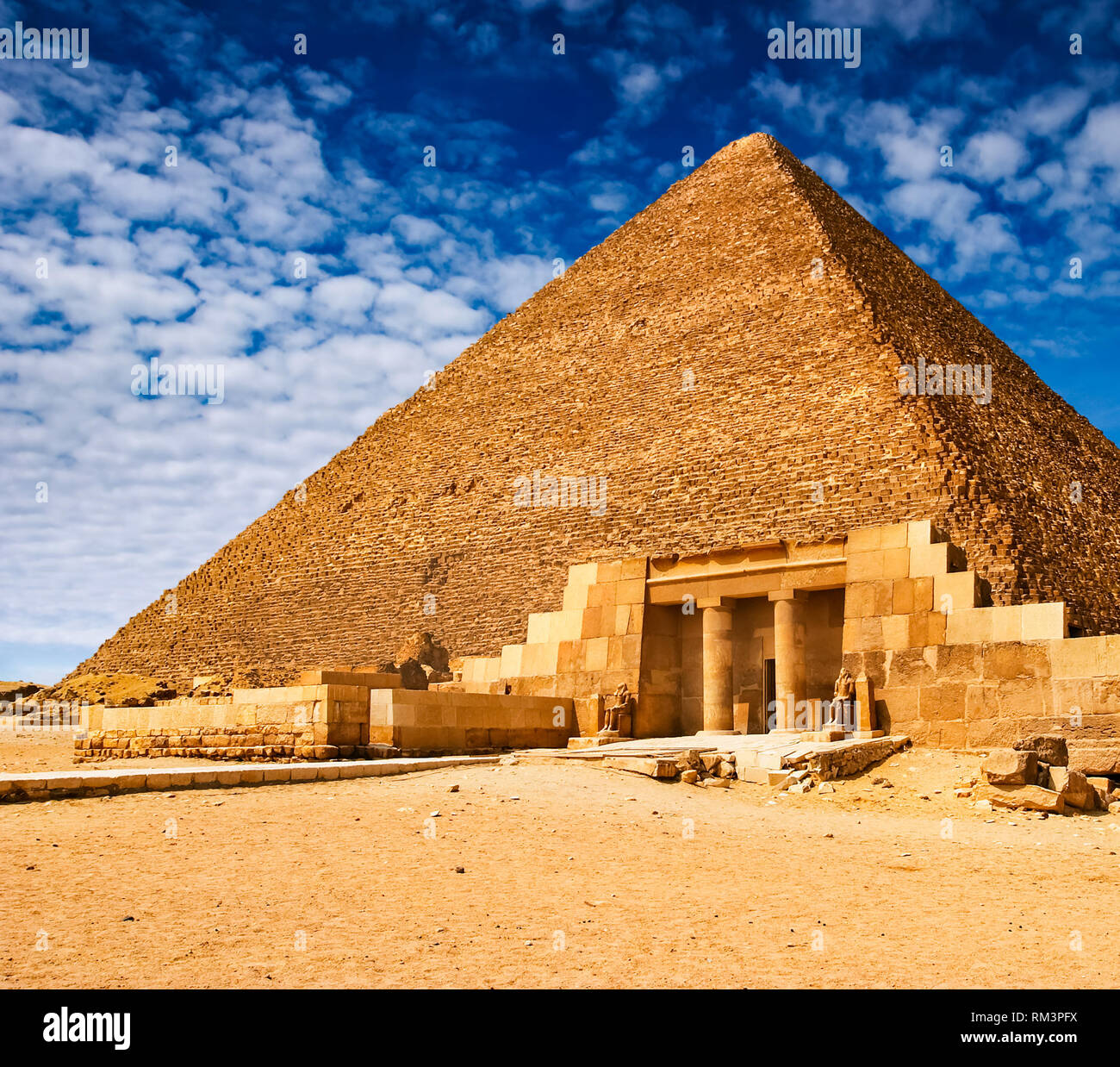Egyptian Pyramid In Giza Architectural Heritage Of