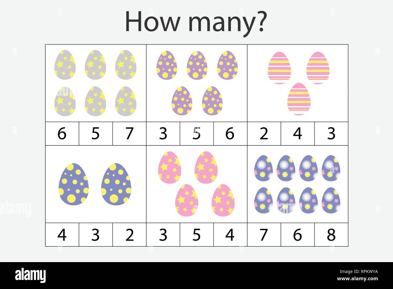 How Many Counting Game With Easter Eggs For Kids