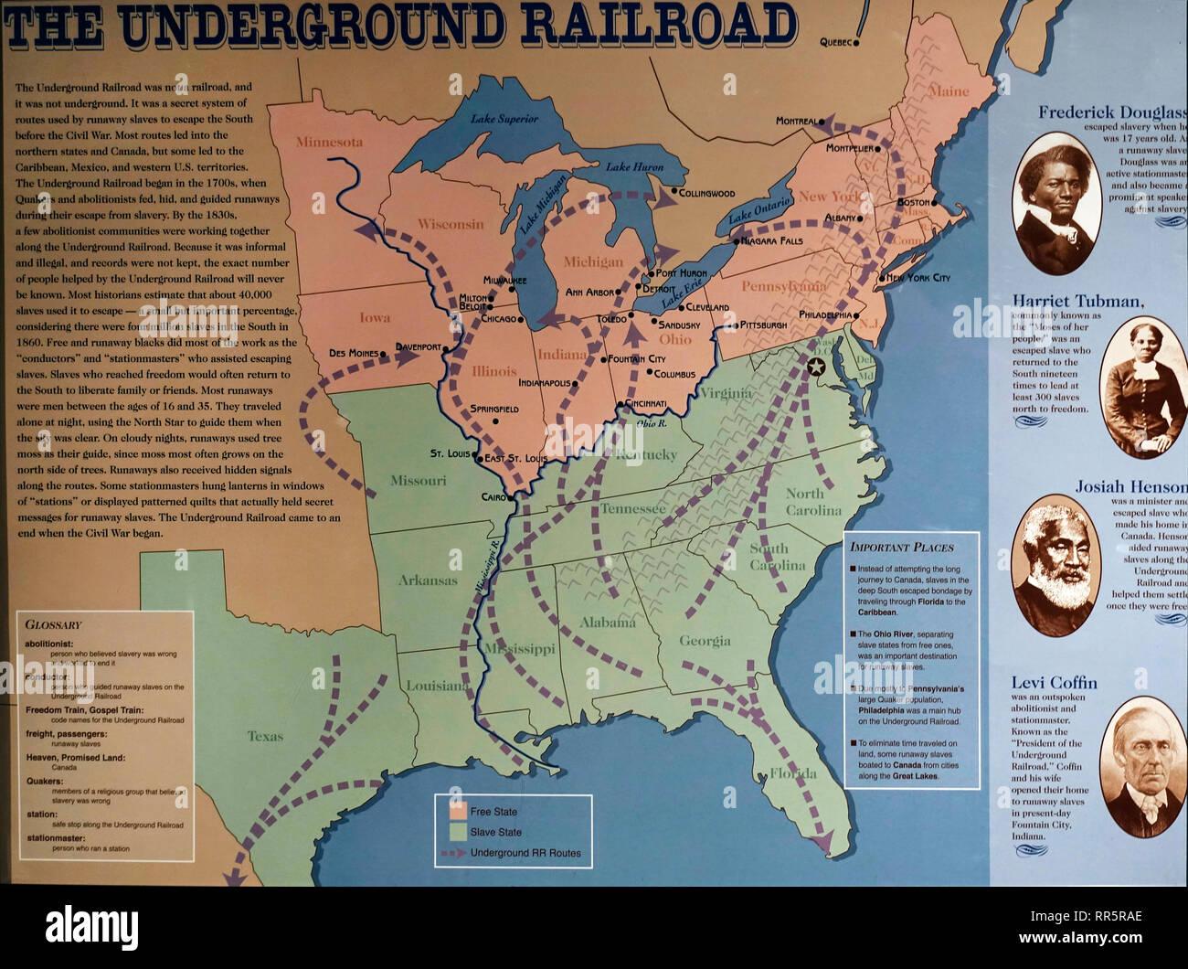 Underground Railroad And Map Stock Photos Amp Underground