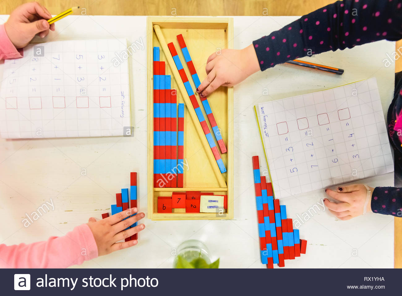 Child Worksheet School Writing Stock Photos Amp Child
