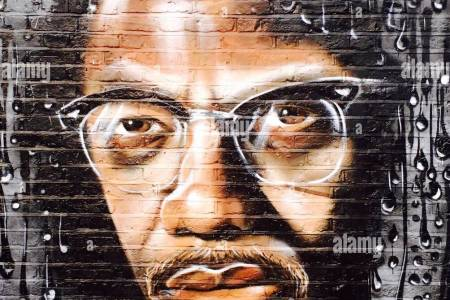 alamy malcolm x street art in brick lane london stock image malcolm x painting hd images pin wallpaper malcolm x painting by richard day malcolm x