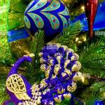 Peacock Christmas Decorations Stock Photo Alamy