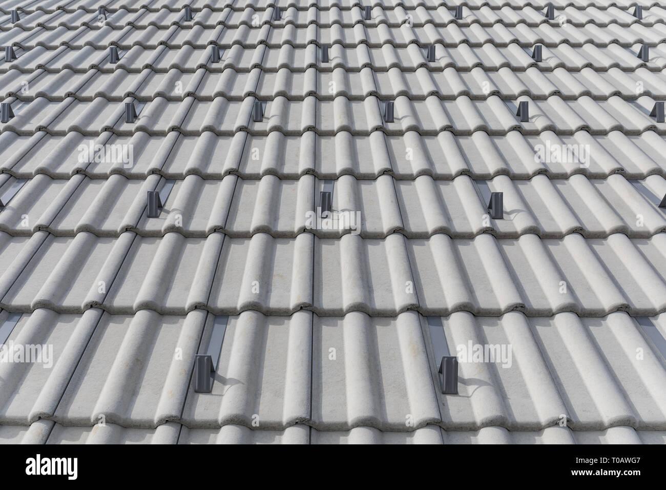 https www alamy com concrete roof tiles image241184727 html