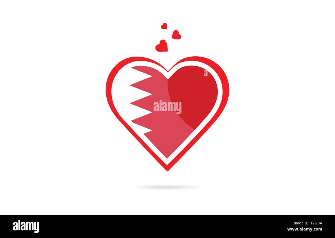 Download Bahrain country flag inside love heart design suitable for ...