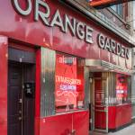 Exterior Of Orange Garden Chinese Restaurant With Vintage Sign And Facade Stock Photo Alamy