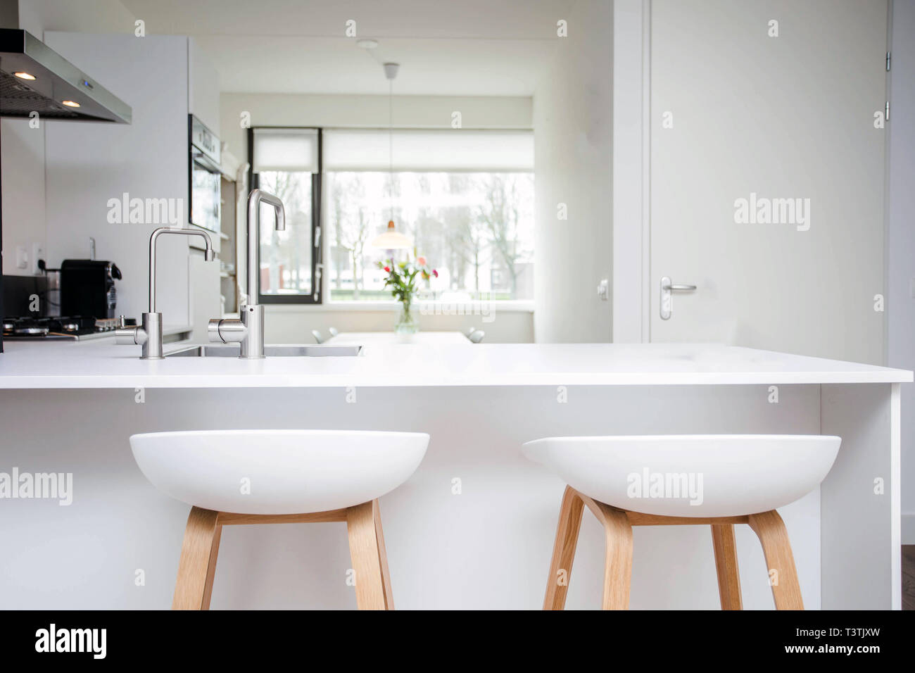 Kitchen Island And Stools High Resolution Stock Photography And Images Alamy