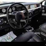 Novosibirsk Russia 04 11 2019 Interior View Of New A Very Expensive Rolls Royce Phantom Car A Long Black Limousine With Dashboard Steering Wheel Stock Photo Alamy