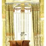 Dining Room Window Decoration Art Nouveau Vintage Illustration By Modern Drapery 1900 Stock Photo Alamy
