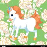 Seamless Background With Pink Roses And Cute Baby Unicorn Ornamental Pattern With Beautiful Garden Floral Motif Great For Fabric And Textile Wallpa Stock Vector Image Art Alamy