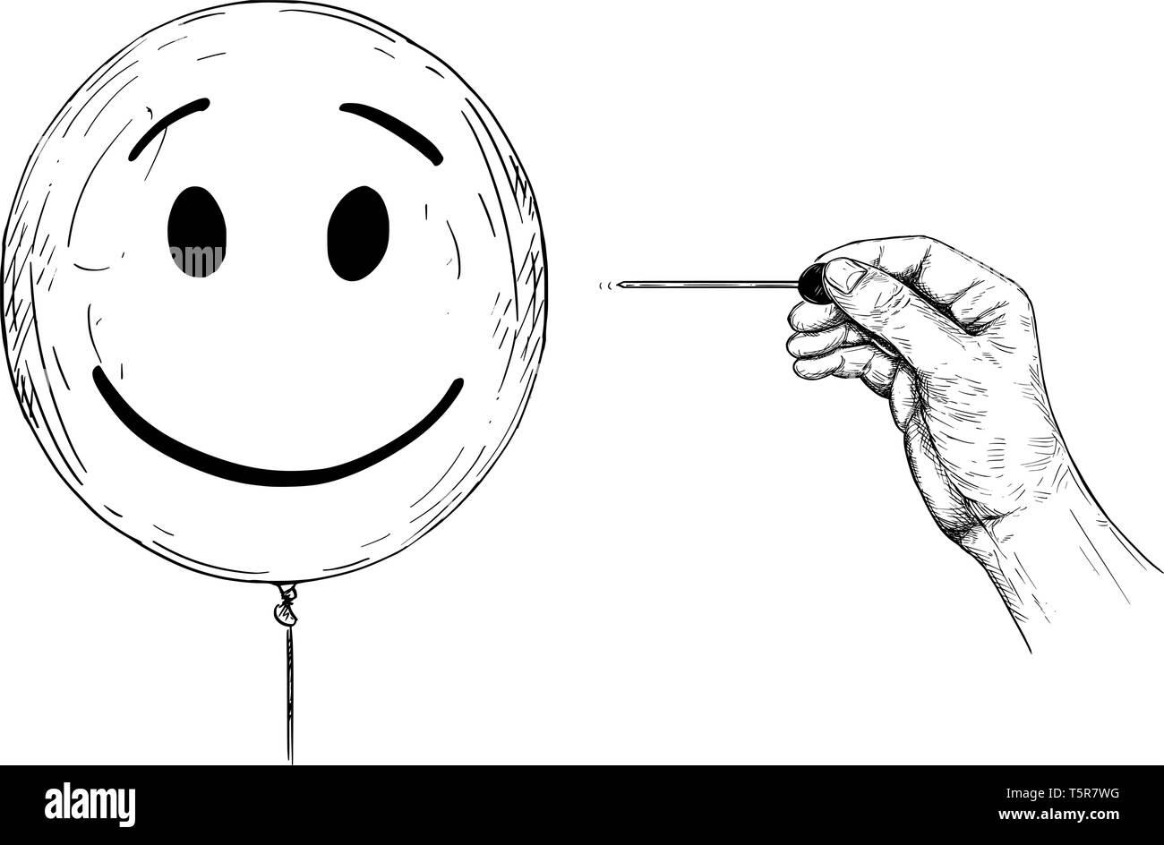 Balloon Popping Cartoon Comic