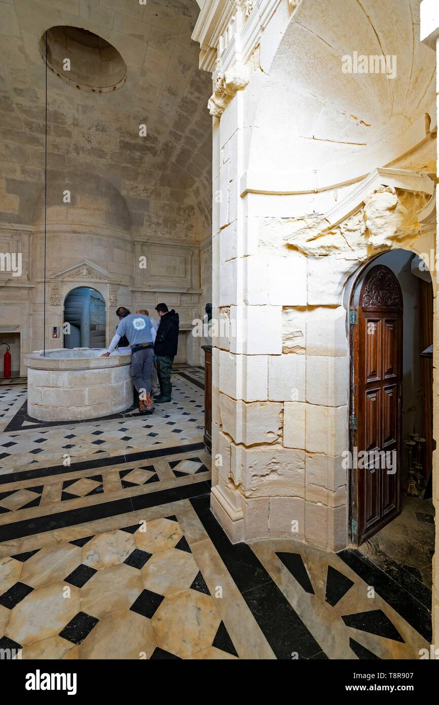 https www alamy com france gironde verdon sur mer rocky plateau of cordouan lighthouse of cordouan listed as monument historique the kings apartment or kings room meeting of the technical team working on the maintenance and renovation of the lighthouse image246374359 html