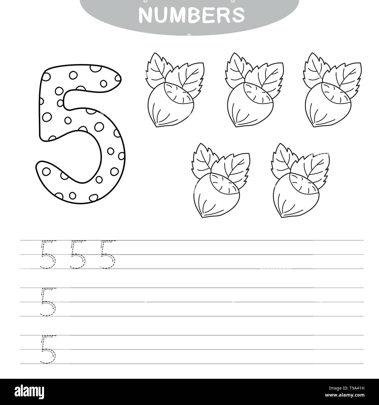 Number Writing Practice Worksheets For Kindergarten