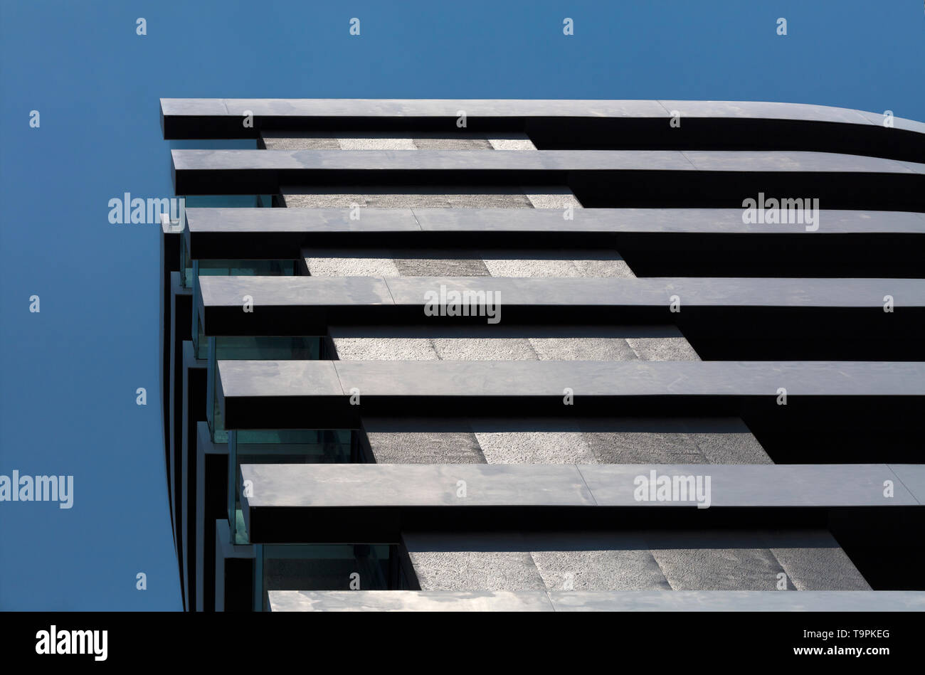 Horizontal And Vertical Lines In Modern Architecture Of