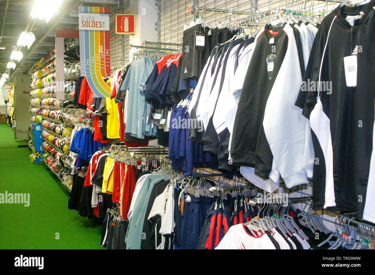 https www alamy com decathlon sport equipments supermarket bron rhone france image255441253 html