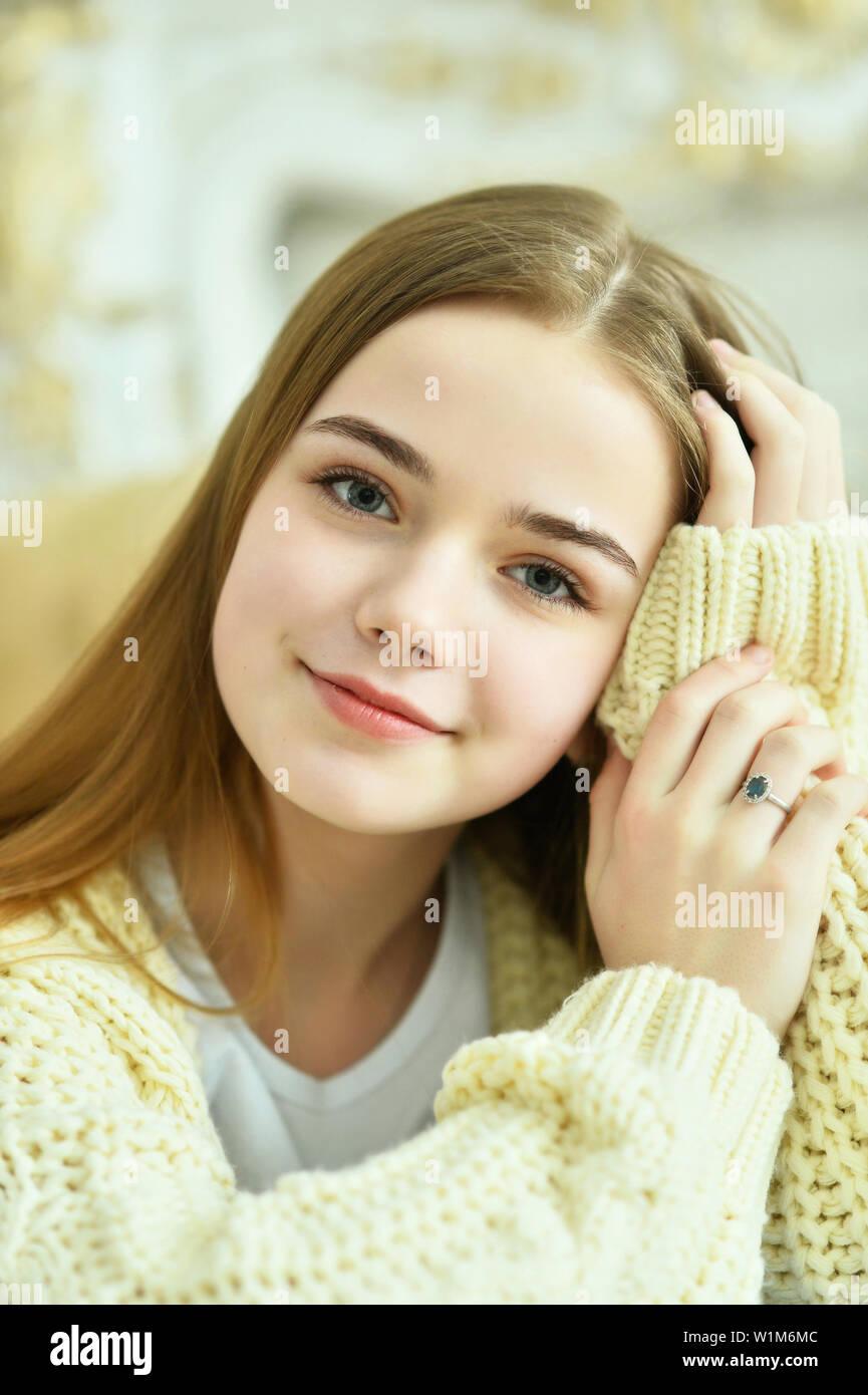 Close up portrait of beautiful teen girl Stock Photo ... on Small:zikqrscfop8= Teenage Girls  id=68869