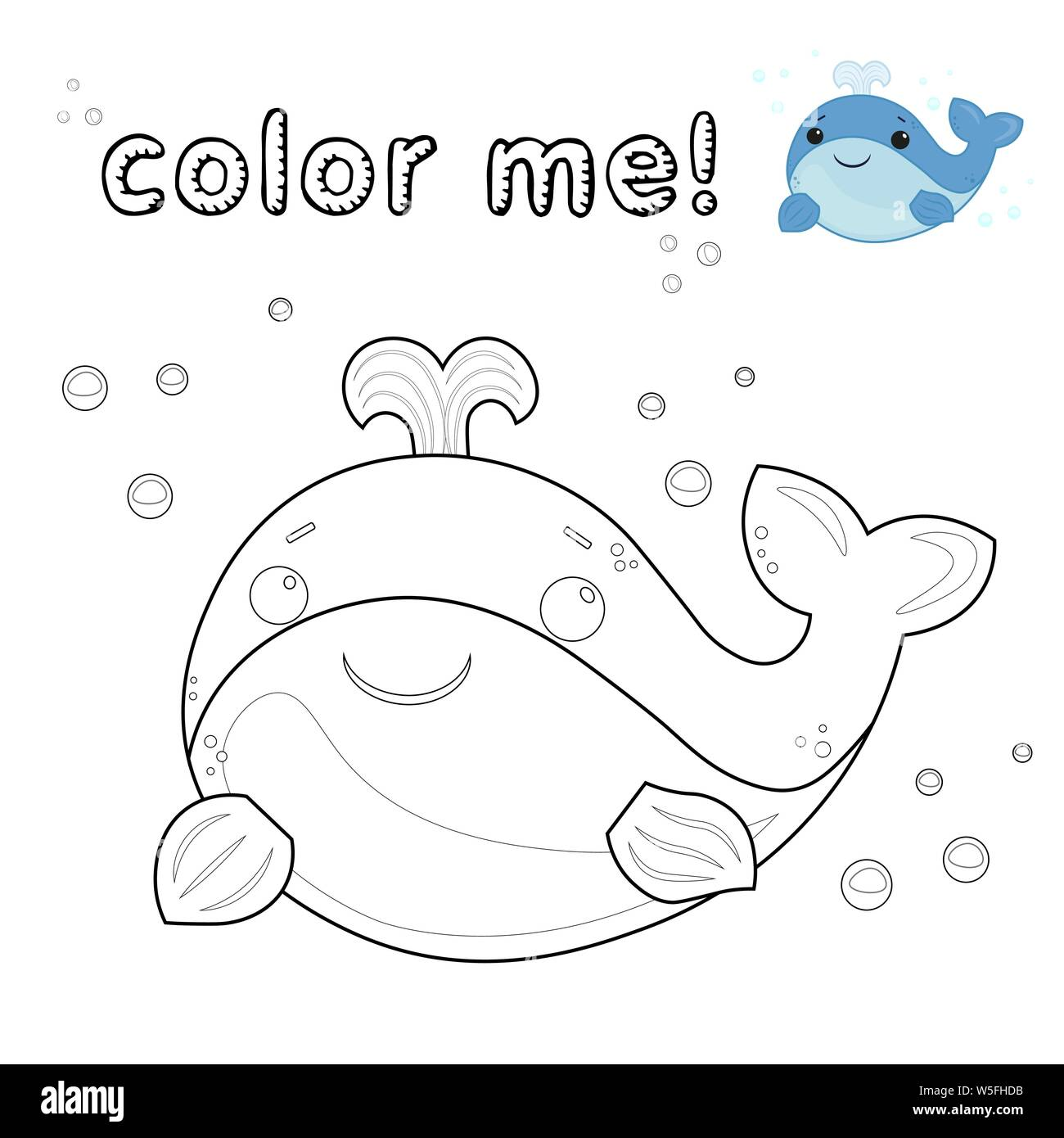 Game For Kids Outline Whale Coloring Page Black And White Whale Cartoon Character Vector Illustration Isolated On White Background Marine Animals Stock Vector Image Art Alamy