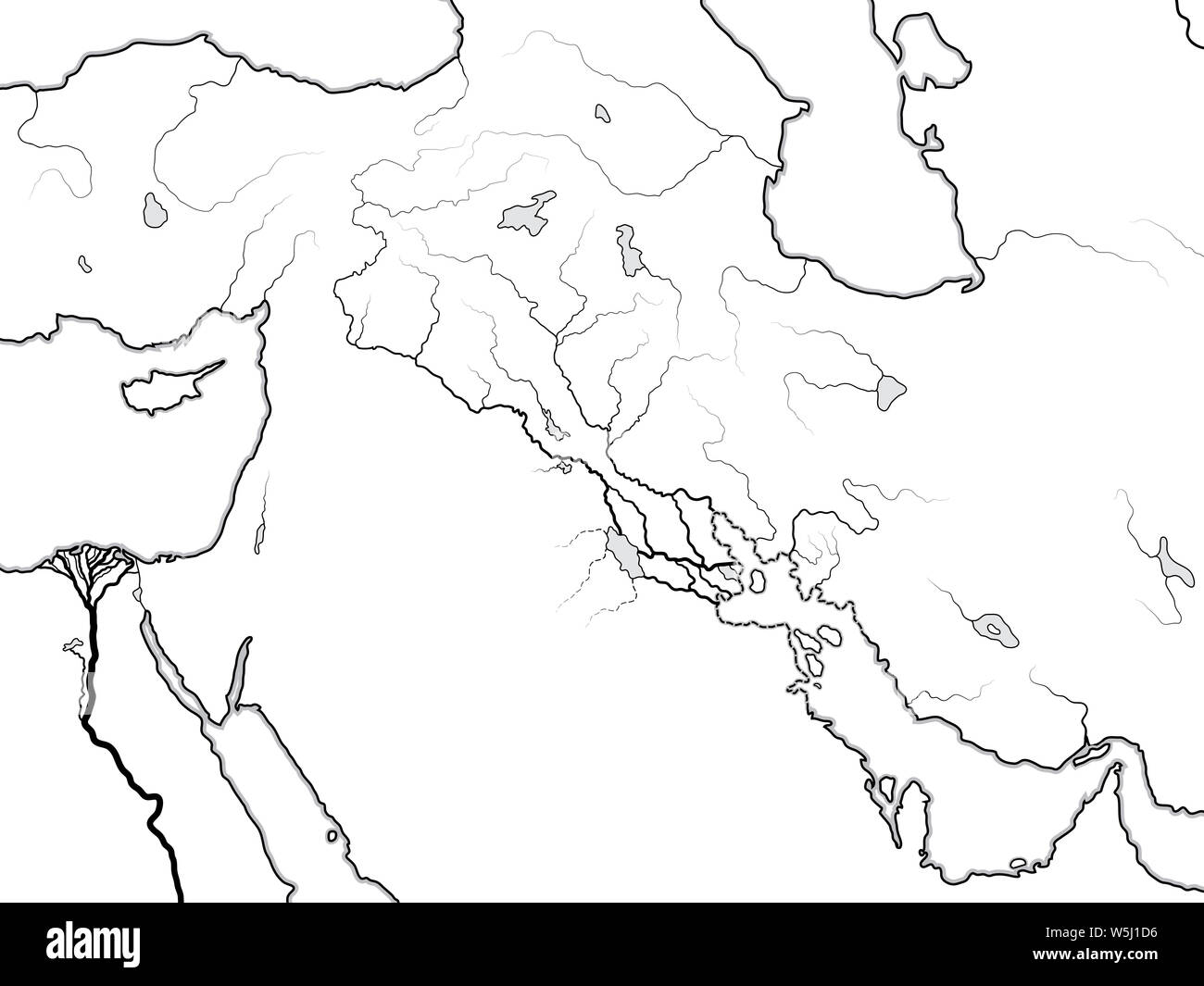Blank Map Of Ancient Mesopotamia And Egypt